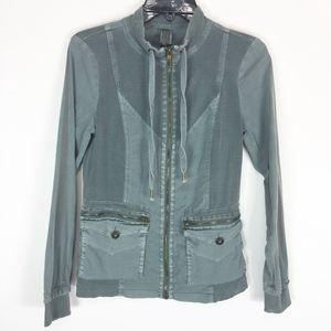 XCVI Jacket Small Green Contracting Cargo Pockets